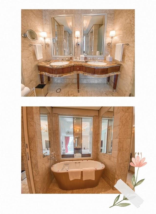 st regis staycation lady astor bathroom