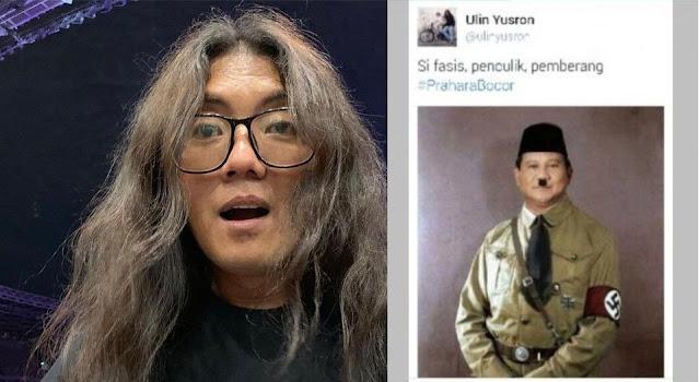 Ulin Si Pengunggah Foto Prabowo Mirip Hitler Jadi Komisaris BUMN, Gerindra Tidak Bisa Melarang