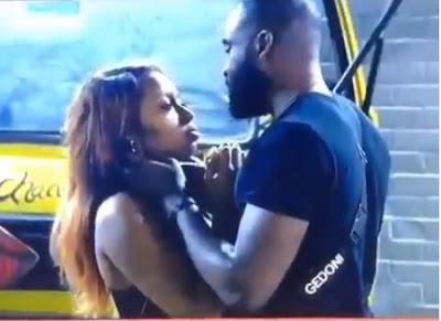 #BBNaija: Gedoni Kisses Khafi Passionately As They Settle After Quarrel (VIDEO)