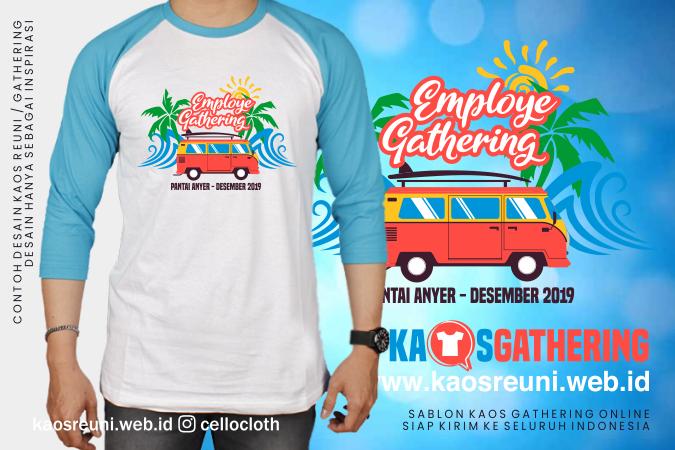 go Pantai Anyer Kaos Gathering  - Kaos Family Gathering - Kaos Employe Gathering