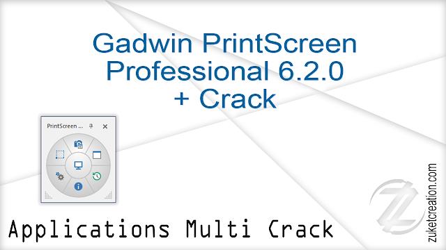 Gadwin PrintScreen Professional 6.2.0 + Crack  |  24 MB