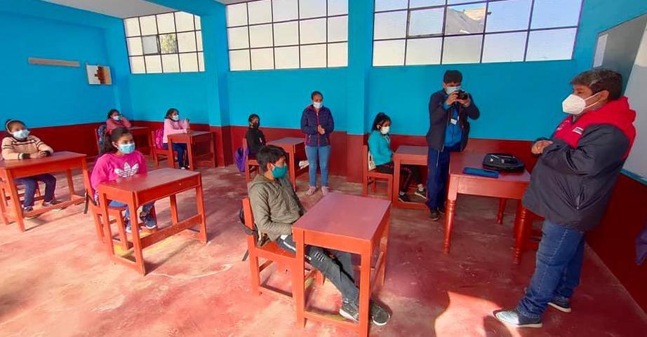 Clases presenciales reinician en 87 colegios en La Libertad
