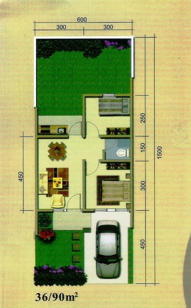 Perhitungan Tepat Denah Rumah Type 36 Sederhana