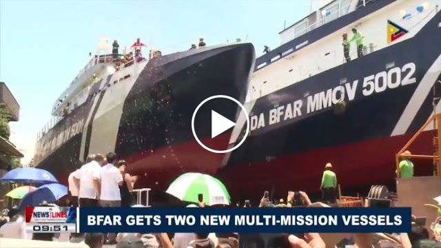 WATCH   BFAR Launches Two New Philippine-Made Multi-Mision Vessels