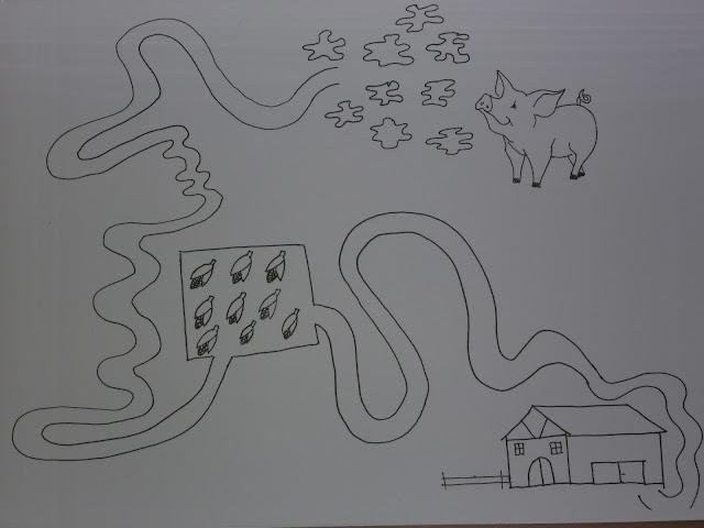 Schwein im Kindergarten Stiftführung üben