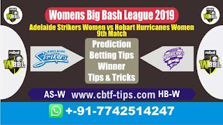 Who will win Today, WBBL T20 2019, 9th Match HB-W vs AS-W