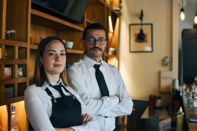 Empresários do ramos de  cafeteria