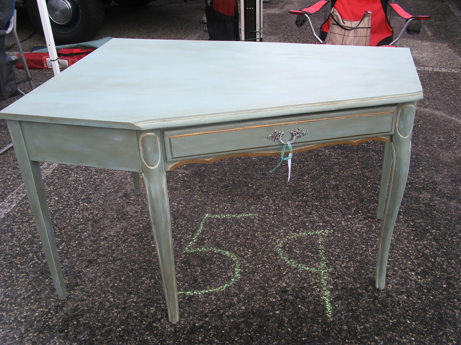 Upcycle Style Chalk Painted Corner Desk