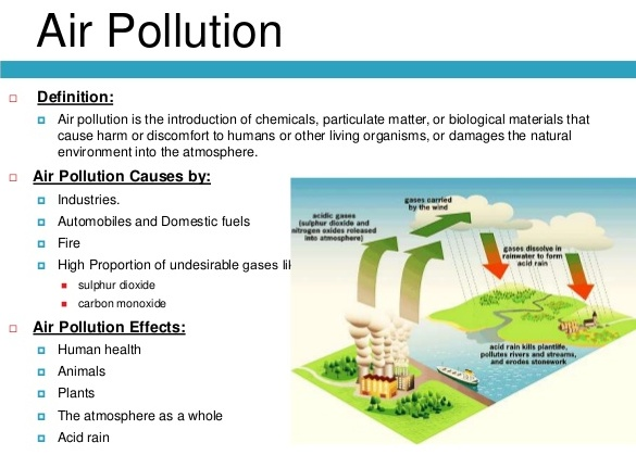 The effects of air pollutants on