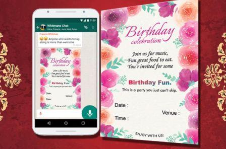 Whatsapp Invitation Card