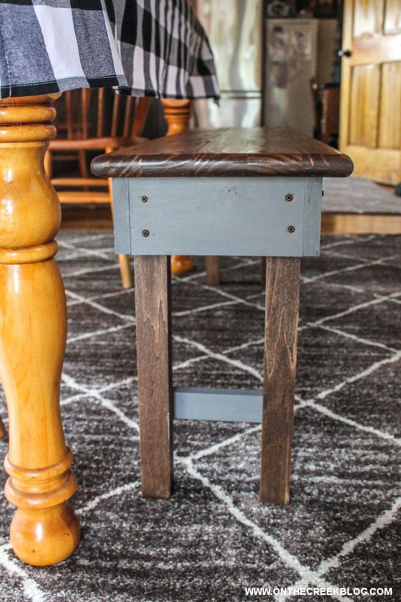 Building A Simple Handmade Bench | On The Creek Blog // www.onthecreekblog.com