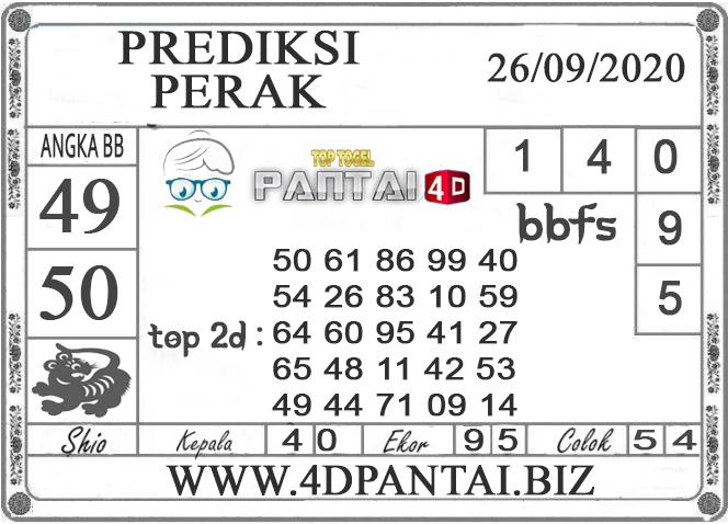 PREDIKSI TOGEL PERAK PANTAI4D 26 SEPTEMBER 2020