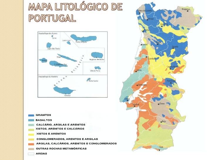 mapa das rochas em portugal Ciênciamais 5º ano: QUAIS AS ROCHAS QUE EXISTEM EM PORTUGAL? COMO  mapa das rochas em portugal