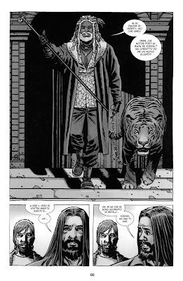 """La prima apparizione di Re Ezekiel - Tavola tratta dal volume 18 di TWD """"Cosa succede dopo"""" (formato paperback - © SaldaPress)"""
