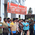 மட்டகளப்பு, ஏறாவூரில் சுகாதரா ஊழியர்கள் போராட்டம்