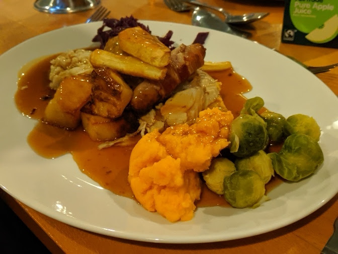 Christmas & Santa at Cragside Review  - turkey lunch