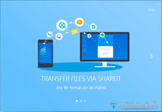 SHAREit helps to share photos, music, video, apps, documents and other file or data PC to mobile, mobile to mobile or PC to PC, Mobile to pc, phone to phone, android file transfer aps