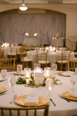 small candlelit centerpieces