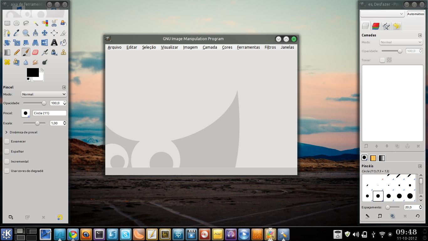 GIMP no Linux Mint KDE
