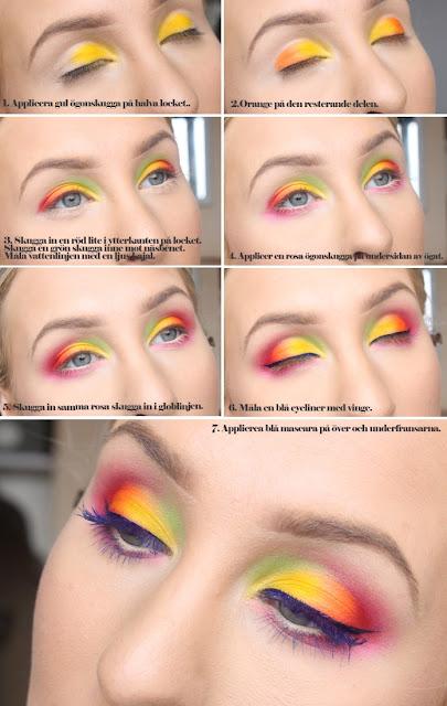 Maquiagens coloridas Carnaval