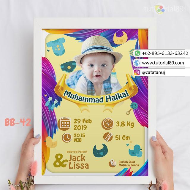 Biodata Bayi Costume Unik Kode BB42 | Koas Abstrak