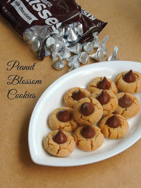 Peanut butter blossom cookies, Eggless peanut blossom cookies