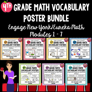 4th Grade Engage New York Math Vocabulary Posters