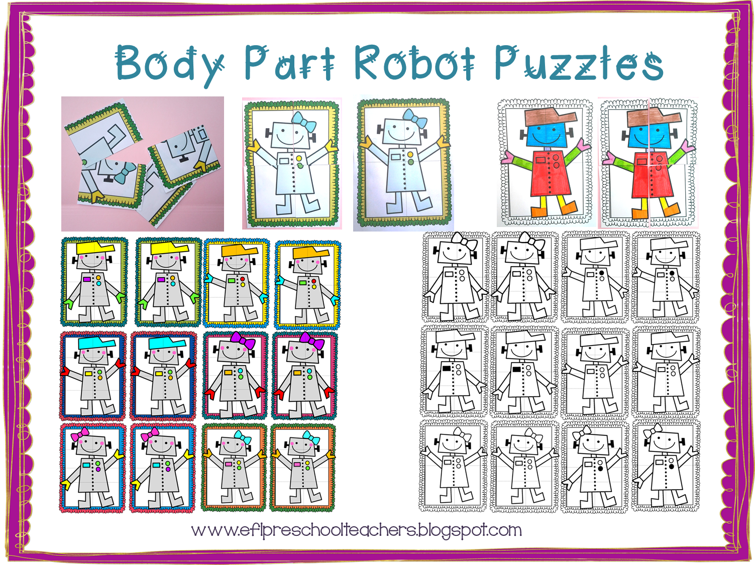 Esl Efl Preschool Teachers Body Theme For Preschool