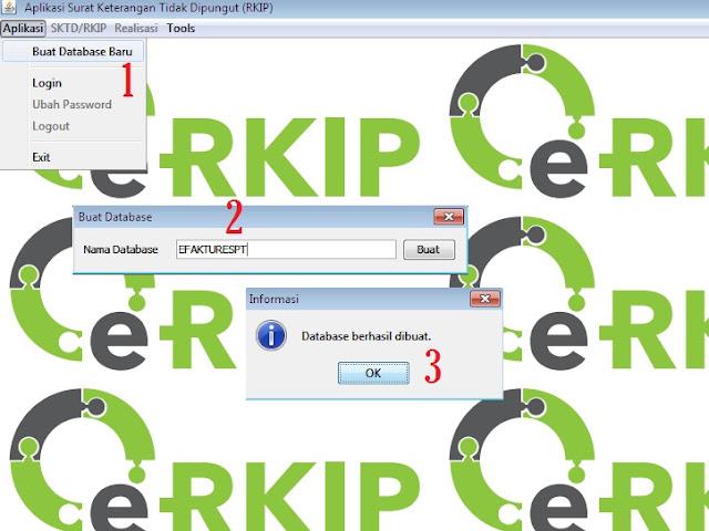 Cara Buat Database eRKIP Terbaru