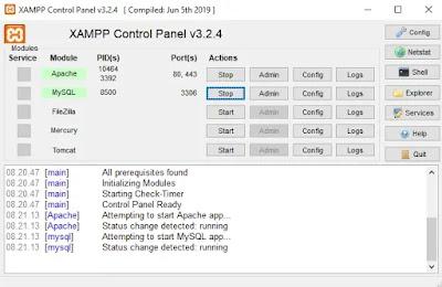 Start Xampp Control Panel