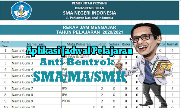 Download Aplikasi Jadwal Pelajaran Anti Bentrok SMA/SMK