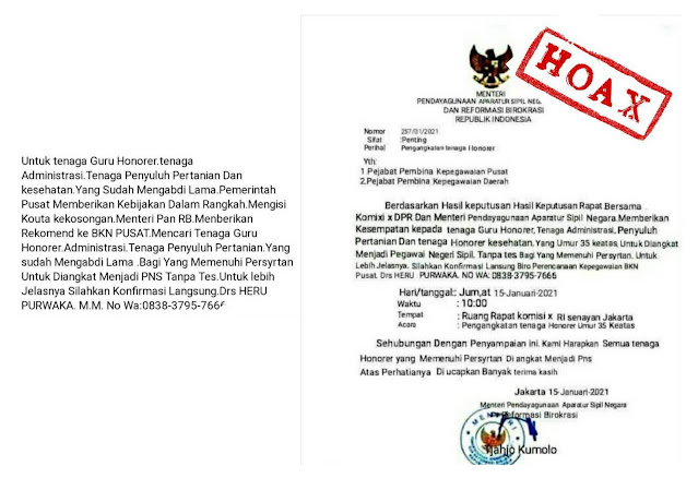 Hati-hati..!!! Surat Palsu Mengatasnamakan Menteri PANRB Kembali Beredar