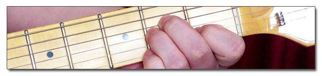Acordes menores de guitarra