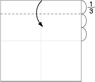 Bước 2: Gấp tờ giấy xuống dưới