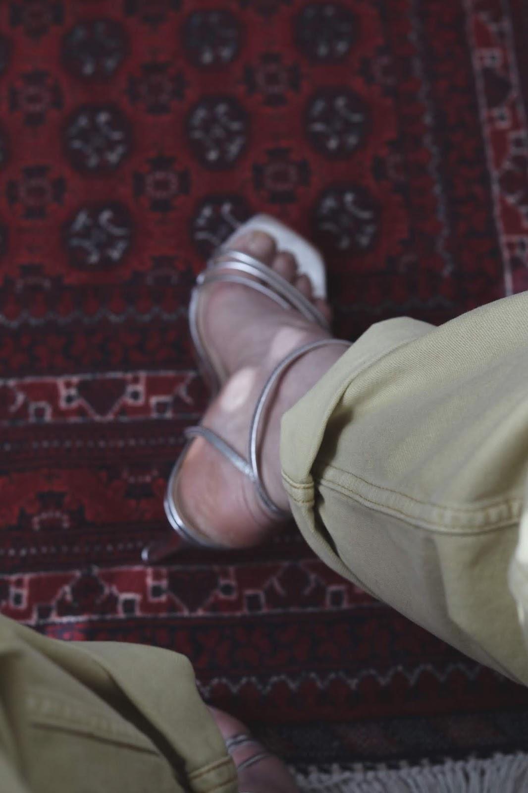 le chateau silver sandals