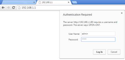 Cara Mengganti User dan Password di Modem FiberHome