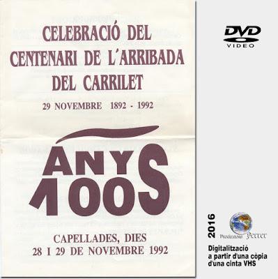 Celebració del Centenari del Carrilet - Capellades - 1892-1992