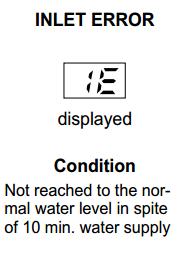 معني رمز IE  في غسالة الصحون الي جي