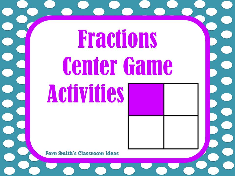 Teaching Fractions Activities