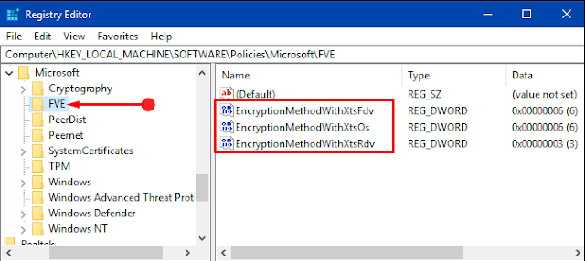 Ways to Modify Default BitLocker Encryption and Cipher Strength in Windows 10
