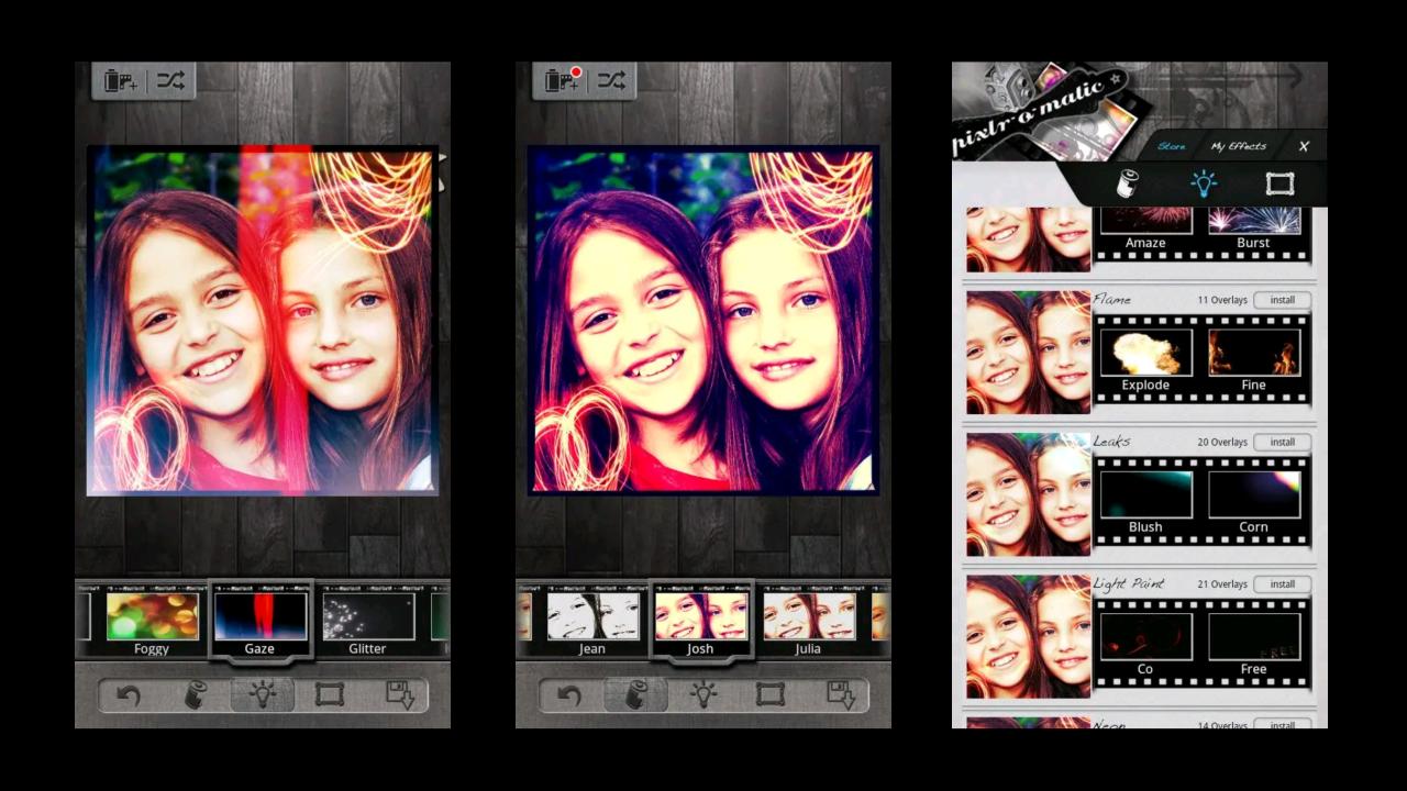 pixlr-o matic: aplikasi edit foto android kekinian