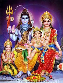 Shiva-Parvati & kartikey, Ganesha Image