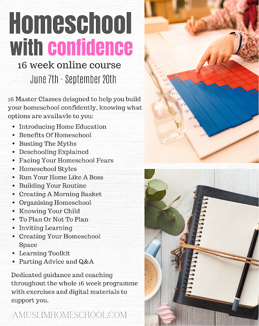 homeschool with confidence online course for muslim mums