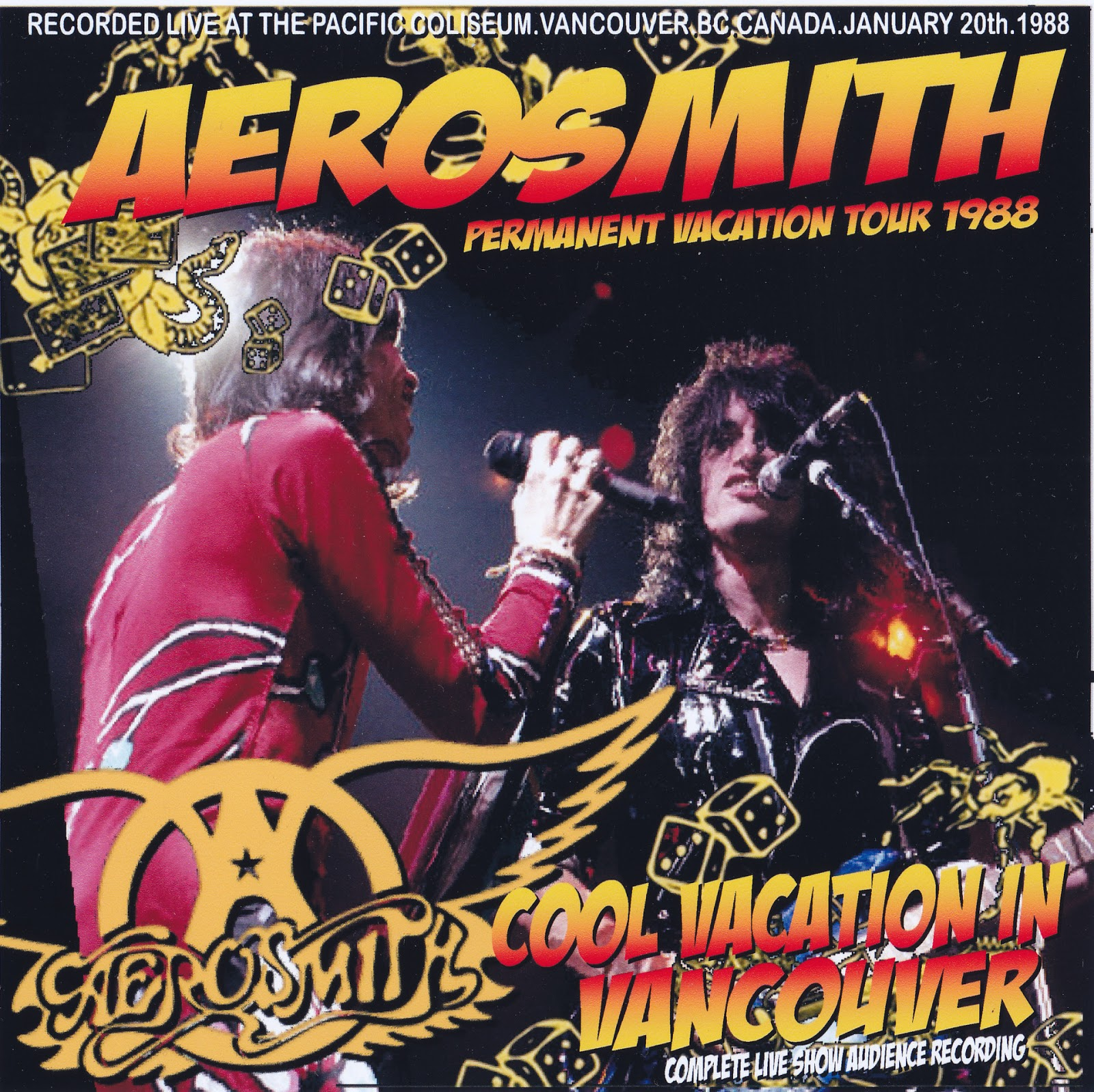 Aerosmith Bootlegs Cover Arts Cool Vacation In Vancouver