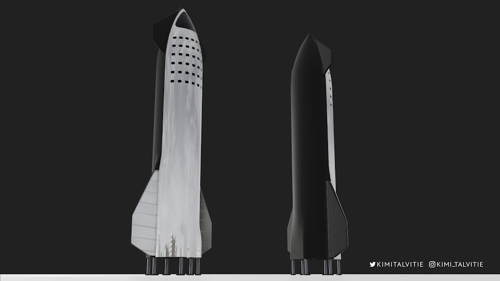 SpaceX's new Starship design by Kimi Talvitie