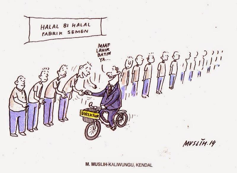 Kartun Sepeda Halal Bi Halal