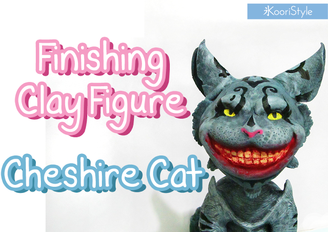 Koori style, American, McGee's, Cheshire, Cat, Clay, Figure, Painting, Sculpture, Acrylic, Paint, Handmade, Cheshire Cat, Clay Figure, Idea, Ideas