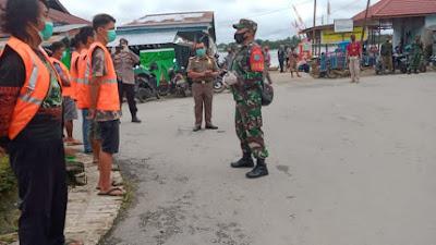 Gelar Penegakan Perbup, Kapten Arh L. Simaremare Imbau Masyarakat Sekadau Selalu Patuhi Prokes