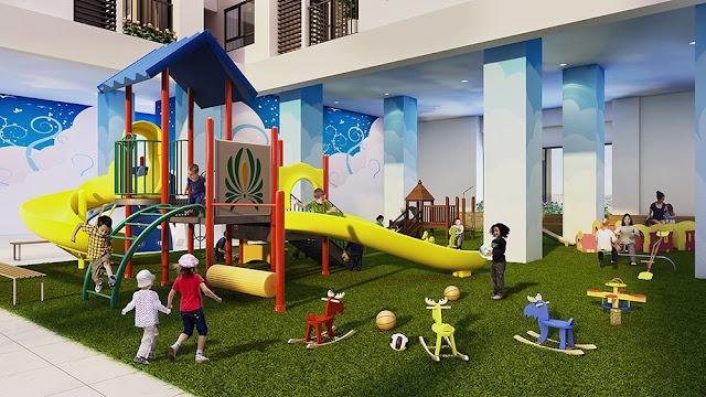 Khu vui chơi trẻ em được bố trí tại khuôn viên dự án