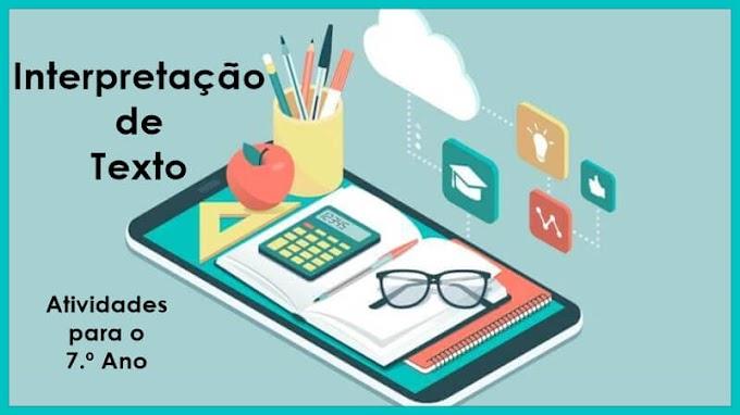 Resumo de Texto - Atividades de Língua Portuguesa para o 7.º A